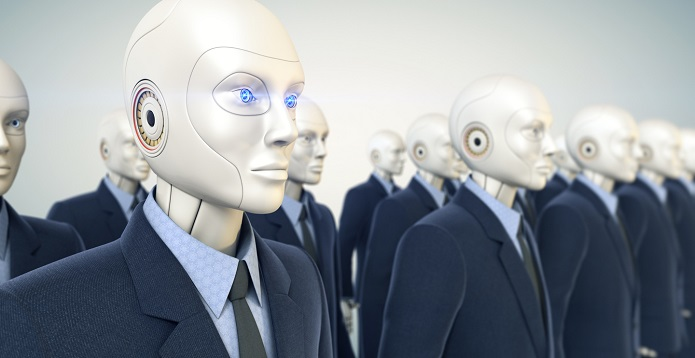 Image: robots in suits
