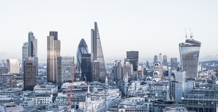 Financial district London panoramic