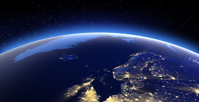 North Europe from space