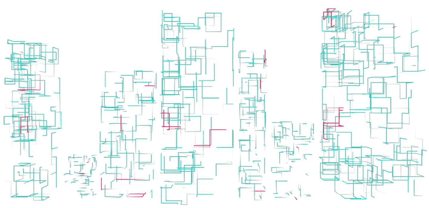 Abstract outline of buildings